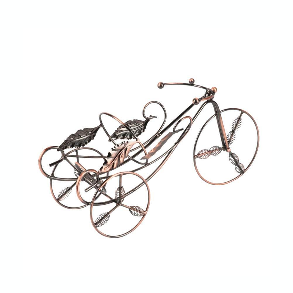 自転車ワインラック、フリースタンディングバイクのカウンタートップ収納装飾的な卓上ボトルホルダー B07T6GM5MP
