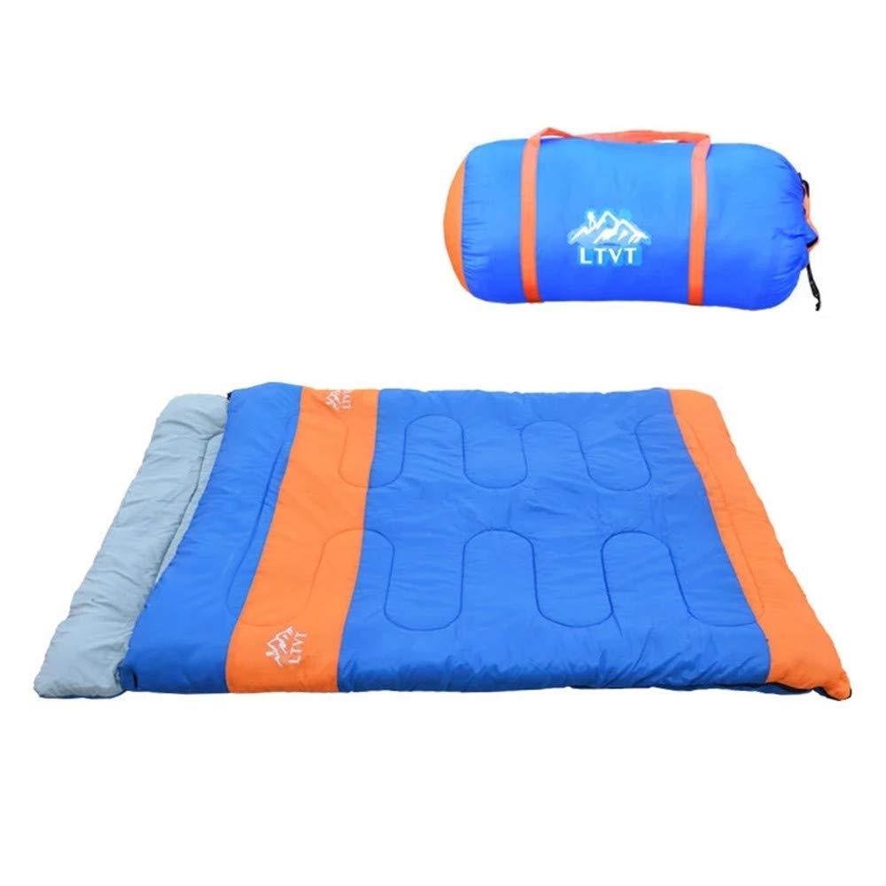 長方形の封筒の寝袋二重寝袋、大人のための容易な持ち運び、ハイキング B07Q7WXSPX