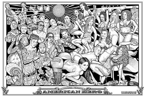 American Hero Howard Teman Hip Hop Strip Club Poster 36x24 Inch