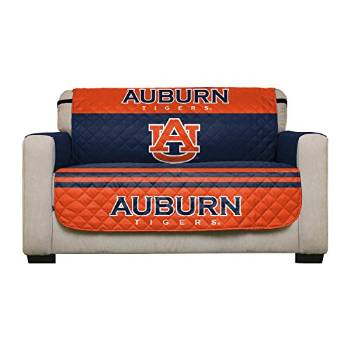 Auburn Living Room Set - Reversible Couch Cover - College Team Sofa Slipcover Set / Furniture Protector - NCAA Officially Licensed (Love Seat, Auburn Tigers)