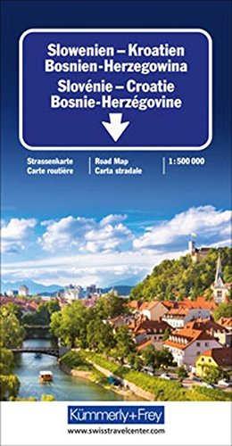 Slowenien/Kroatien/Bosnien-Herzegowina 1 : 500 000. Straßenkarte: Sehenswürdigkeiten, Reiseinformationen, Distanzentabelle, Index (International Road Map) (Kümmerly+Frey Strassenkarten) Landkarte – Folded Map, 19. Oktober 2016 Kümmerly + Frey Hallwag Kümme