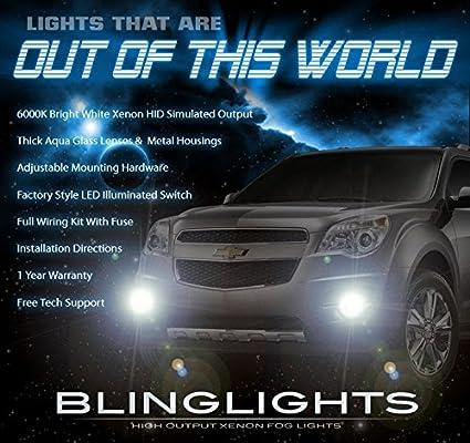 amazon com: blinglights brand fog lights kit for 2010-2015 chevrolet  equinox: automotive