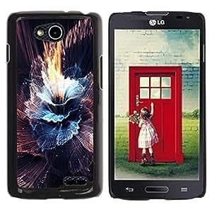 Be Good Phone Accessory // Dura Cáscara cubierta Protectora Caso Carcasa Funda de Protección para LG OPTIMUS L90 / D415 // Sun Sky Black Abstract Burst Explosion