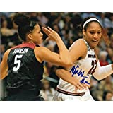 fan products of A'JA WILSON signed (SOUTH CAROLINA GAMECOCKS) 8X10 WNBA Las Vegas Aces W/COA #1 - Autographed College Photos