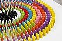 100pcs 12 Colors Standard Wooden Games Dominos Set Kids Racing Toy Blocksの商品画像