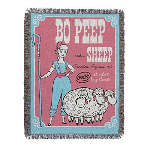 Sheep Tapestry - Disney Pixar Toy Story 4, Bo Peep Sheep Woven Tapestry Throw Blanket, One Size,