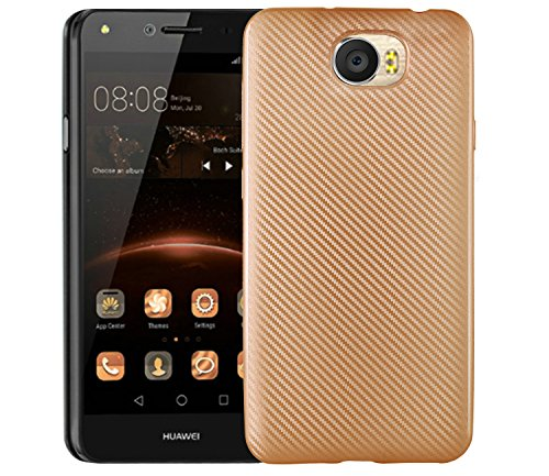 Case for Huawei Y6 II Compact LYO-L21 Case TPU Silicone Soft Shell Cover Gold