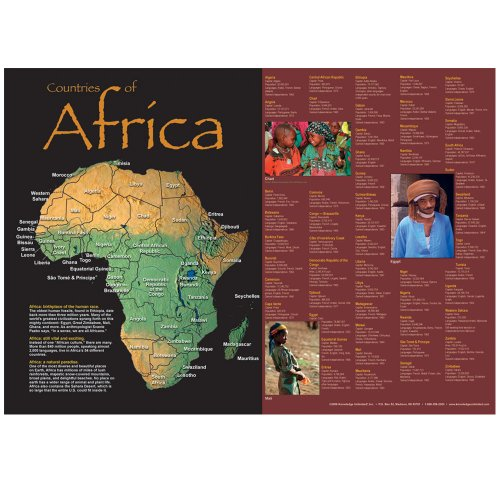 Countries of Africa- Classroom Poster Map