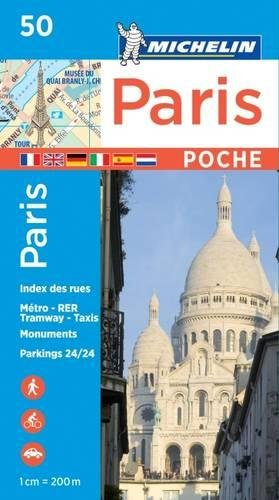 Michelin Paris Pocket Map 50 (Plan Poche) (Michelin City Plans)