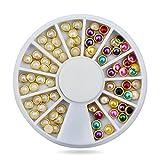 Chaud 3D Nail Art Perle Strass de vernis à ongles, 5mm de roue outil élégant Clous en Métal Strass Charms Craft, Bijoux DIY Manucure Ongles Décorations
