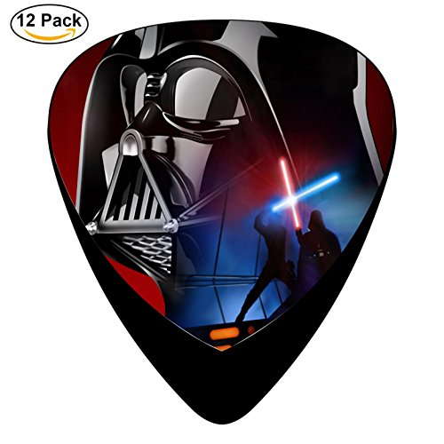Guitar Picks Star Outside Wars 12-Pack Celluloid Plectrums 4pcsx0.46mm, 4pcsx0.71mm and (Harrison Ford Halloween)