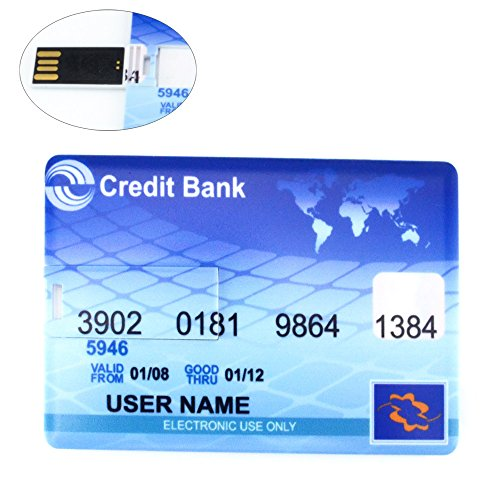 16GB Ultra-slim Credit Bank Card Shaped USB Flash Disk Drive