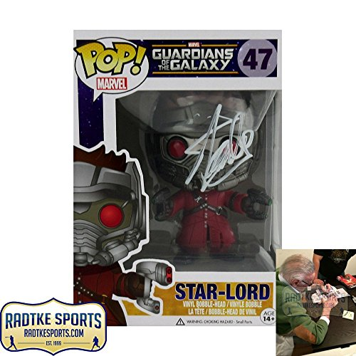 Stan Lee Autographed/Signed Funko Pop! Marvel Guardian of the Galaxy Star Lord #47 Bobblehead Toy