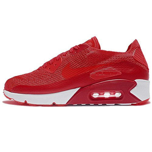 NIKE AIR MAX 90 Ultra 2.0 Flyknit Crimson RED White Mens Running 875943 600