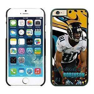 NFL iPhone 6 4.7 Inches Case Jacksonville Jaguars Laurent Robinson Black iPhone 6 Cell Phone Case KXWFRTYE2083