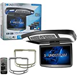Sounstream 13.8 Car Overhead High-resolution Video Monitor with DVD Player MobileLink Smartphone Mirroring and Remote