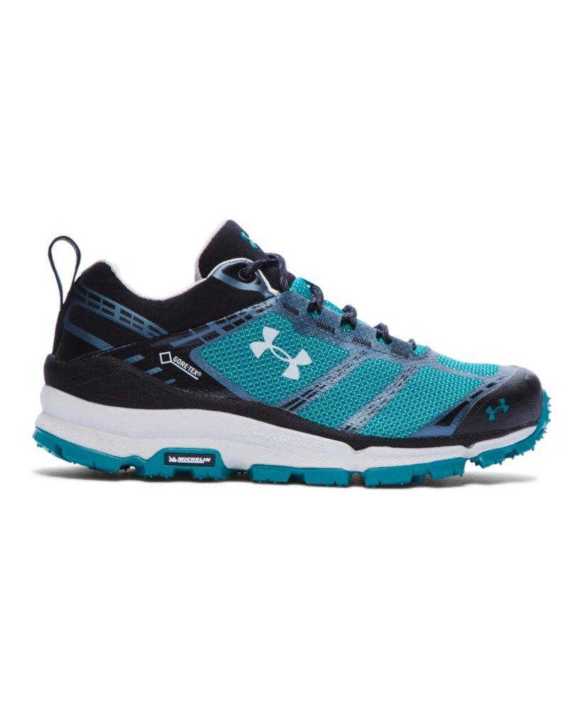 Under Armour Womens UA Verge Low GTX Trail Sneaker, Emerald Safari, 6.5 B(M) US