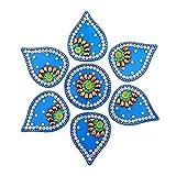 AMBA HANDICRAFT Rangoli/Home Decor/Diwali / Gift for Home/Interior Handcrafted/Floor Stickers/Wall Stickers/Wall Decoration/Floor Decoration/New Year Gift/Party. Rangoli 3