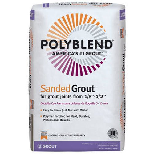 CUSTOM BLDG PRODUCTS PBG38025 25-Pound Haystack Sanded Grout