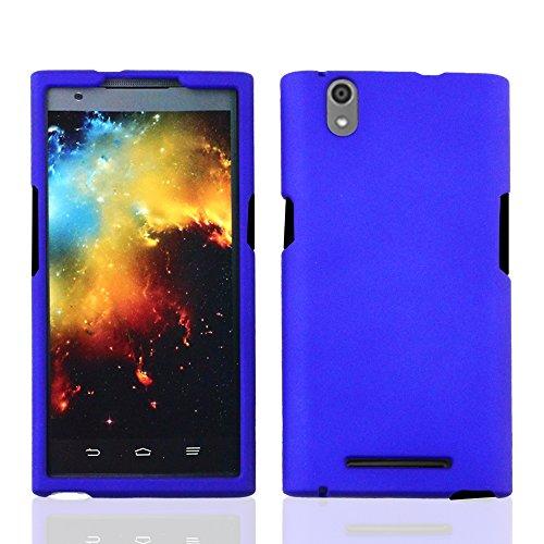 imaxr-matte-hard-skin-case-snap-on-protective-cover-for-zte-z-max-z970hard-blue