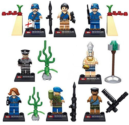 8pcs Boom Beach MiniFigures Building Blocks Toys Heavy Zooka Warrior Medic - Chicago Website Airport
