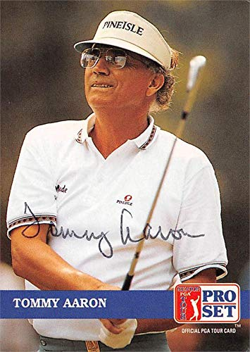 Tommy Aaron autographed trading card (Golf, PGA Tour, Florida Gators, SC) 1992 Pro Set #234 Autographed Golf Equipment