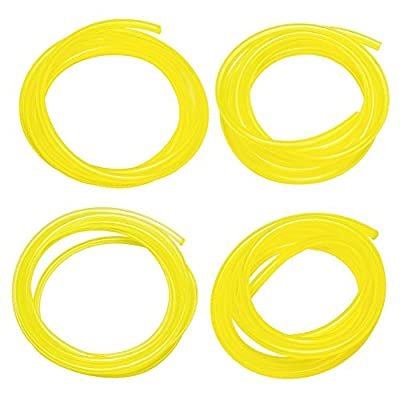 "Fuel Line Hose Tube (4 Size) I.D x O.D 0.08"" x 0.14"" (2mm x 3.5mm)1/8"" x 1/4"" (3mm x6mm) 1/8"" x 3/16"" (3mm x5mm) 3/32"" x 3/16"" (2.5mm x5mm) for Poulan Craftman Chainsaw String Trimmer Blower - YEKELL by YEKELLA"