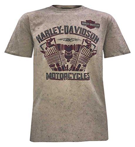 - Harley-Davidson Men's Heat of Fusion Short Sleeve Tee, Sand Wash 5J0M-HF5T (XL)