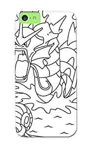 Exultantor Sanp On Case Cover Protector For Iphone 5c (coloring Page With Two Very Rare Pok Mon Gyarado And Omanyte) For Christmas Day's Gift