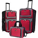 U.S. Traveler New Yorker 3 Piece, Red