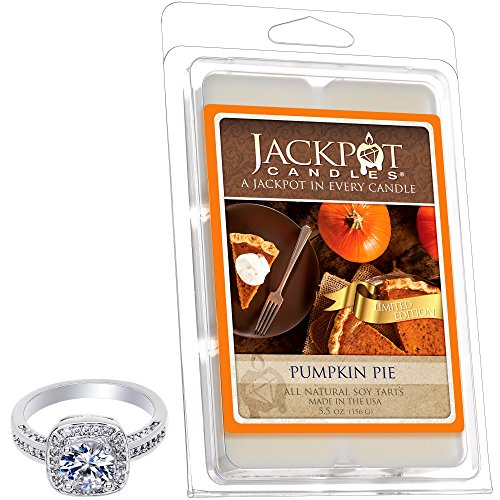 Pumpkin Pie Wax Tart Melts with Ring Inside (Surprise Jewelry Valued at $15 to $5,000) Ring Size 9 (Pie Candle Tarts)