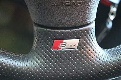 Audi - Logo per volante S-Line: Amazon.it: Auto e Moto