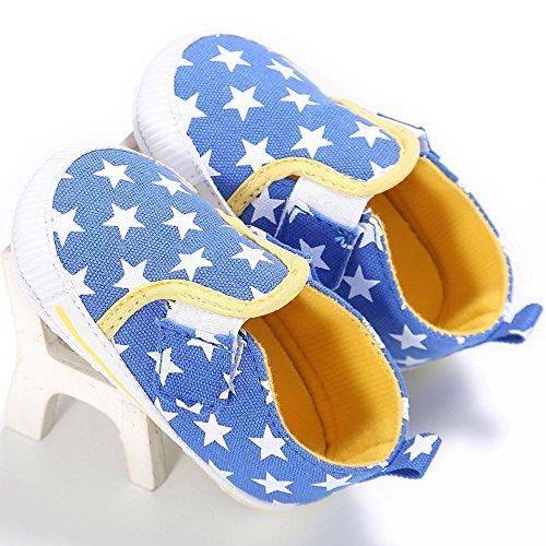 Schuhe Kleinkind Krippe Monate Schuhe Rutsch Loafers Sky Prewalker ~ Blue niedliche Anti Hunpta Komfort Baby Blue Alter 6 Schuhe Sky auf 12 weichen schlüpfen xfqA5StIHw