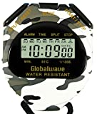 Globalwave Chronograph Water Resistant Stop Watch Waterproof Stopwatch Timer, Large Display for Fitness Swimming Outdoor School Training and Military use (Snow Camouflage)