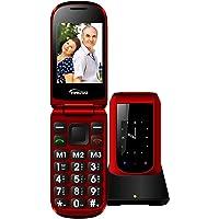 Teléfono Móvil para Personas Mayores Teclas Grandes con Tapa para Ancianos con SOS Botones, Pantalla de 2,4+1.77…