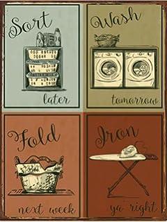 laundry metal sign humor home decor modern decor laundry room decoration - Metal Signs Home Decor