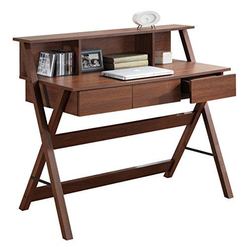 Wooden Desk Hutch - 3