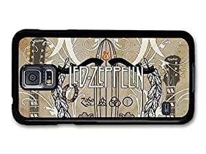 AMAF ? Accessories Led Zeppelin Sepia Illustration with Guitars case for Samsung Galaxy S5