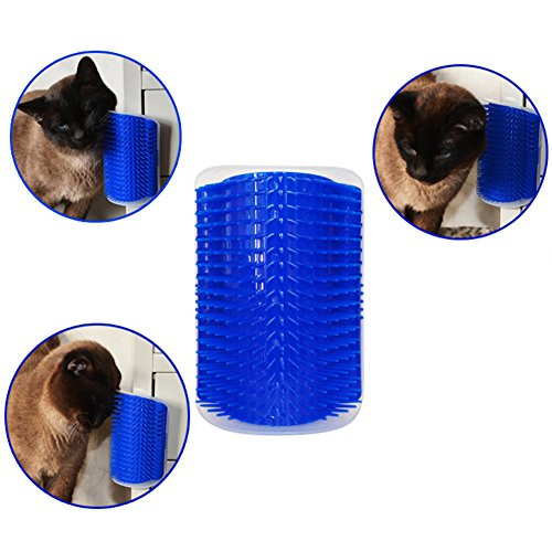Cat Self Groomer Shedding Trimming Massage Comb Pet Toys Hair Removal Brush with Catnip