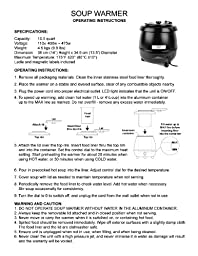 Excellanté 10.50-Quart Stainless Steel Soup Warmer, Black