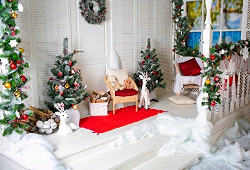 Pine Firewood Tree - Baocicco Christmas Eve Party Decorations Interior Backdrop 10x8ft Photography Background Christmas Tree Pine Wreath Elk Bear Doll Firewood White Cotton Children Night Party