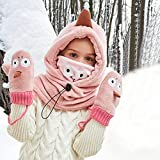 Tieesa Kids Winter Hat Warm Scarf Glove Set