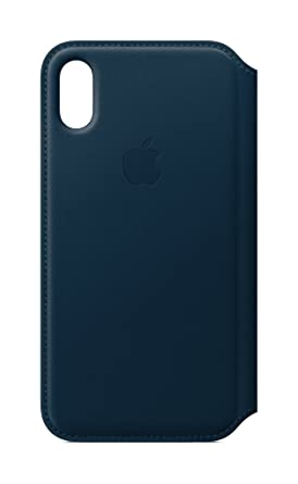 new product 70a3f adbdb Apple Leather Folio (for iPhone X) - Cosmos Blue