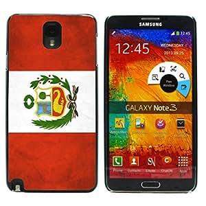 Tony Diy Vintage Peruvian Flag of Peru Design case cover for Samsung tBFBviJQ3U0 Galaxy Note 3