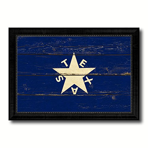 Texas History Lorenzo De Zavala Military Vintage Flag Black
