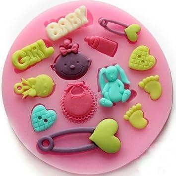 F0486 Silikon Baby Kuchen Form Fondant Schokoladen Form Backen