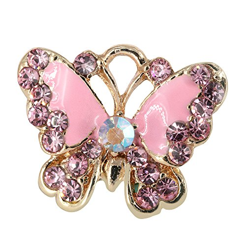 Creative DIY Pink Butterfly Charms Pendants Wholesale (Set of 3) MH417