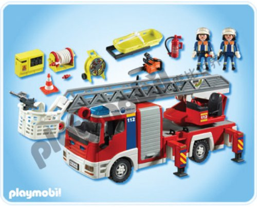 camion pompier playmobil. Black Bedroom Furniture Sets. Home Design Ideas
