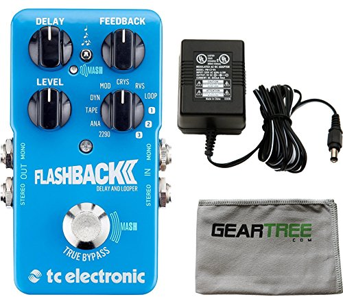 TC Electronic Flashback 2 Delay Pedal w/ Polish Cloth and Power Supply by TC Electronic