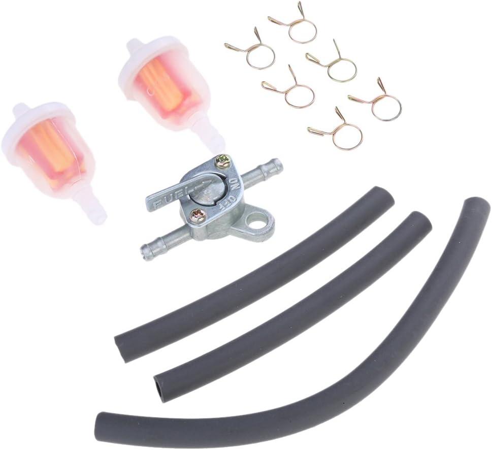 Schlauchclips Motorrad 6mm Kraftstofffilter Benzinfilter Set mit Benzinhahn perfk 2 Pcs Kraftstoffleitung